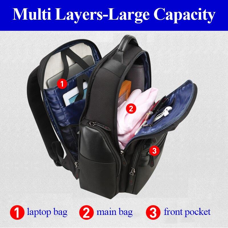 Independente Compartimento Do Saco Do Portátil Dos Homens Mochila de Viagem Saco Mochila de Viagem de Negócios Conveniente Verificação De Segurança para Os Homens mochila - 2