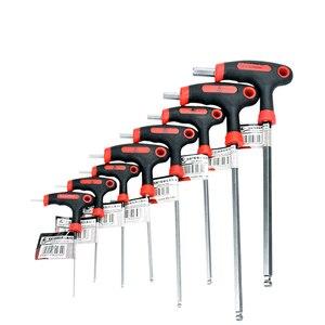 8 sztuk rowerów klucz sześciokątny 2-10mm Top wysokiej jakości sześciokątne gniazdo narzędzie T uchwyt sześciokątne narzędzia zestaw klucz sześciokątny klucz naprawa