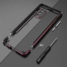 Para samsung galaxy note 20/nota 20 ultra alumínio metal amortecedor quadro capa fina caso do telefone + carmera protetor