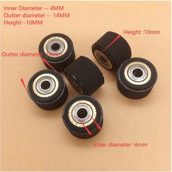 Mimaki Vinyl Cutter pinch roller wheel 4x10x14mm for Mimaki CG-60ST CG-130 CG61ST CJV30 CJV150 rubber paper pressure rol