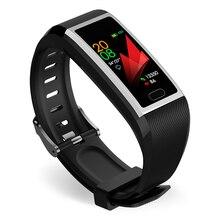 ליגע חדש 1.14 גדול מסך חכם שעון קצב לב צג גשש כושר ספורט צמיד מזג Waterproof תצוגת Smartwatch