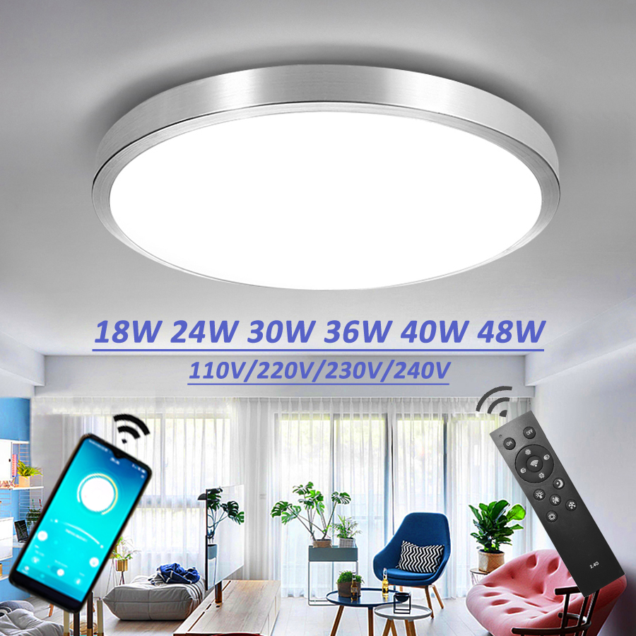 Ceiling Led Lighting Lamps RC Dimmable Modern Bedroom Living Room Lamp Surface Mounting Balcony 24w 36w 40w Ceiling