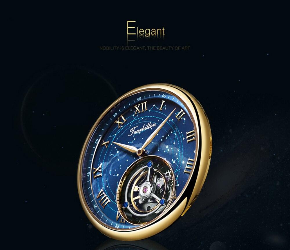 100% Tourbillon GUANQIN Men watches top brand luxury Tourbillon clock men Sapphire Skeleton mechanical watch Relogio Masculino 7