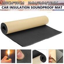 1 rolo 100cm x 50cm 3mm/6mm/10mm adesivo fechado folhas de espuma de célula isolamento acústico casa isolamento acústico som do carro térmico