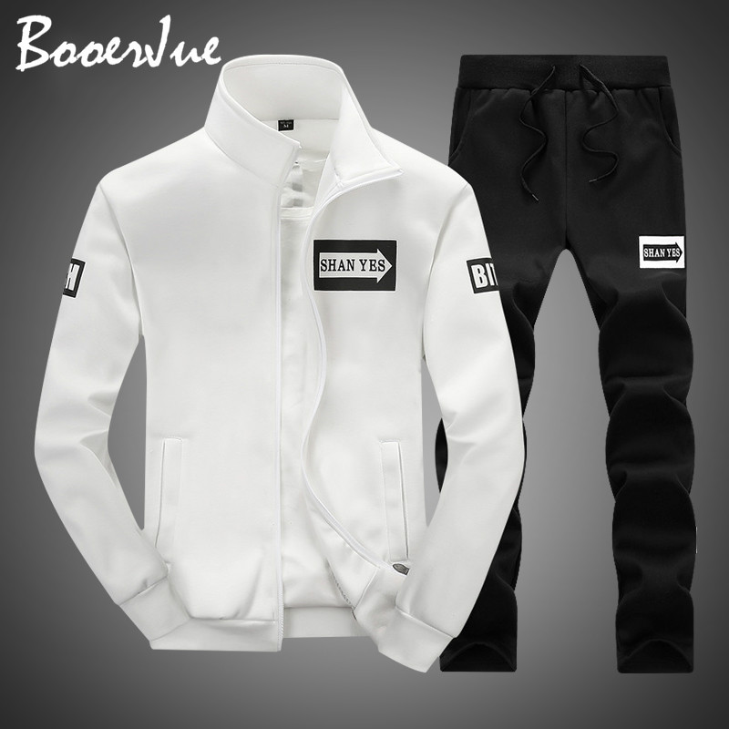 Suits Men Plus Size Hoodies Sweatshirts Sportswears Men Fashion Two Pieces Sets Casual Tracksuit Male 2020 Sweatshirt+Sweatpants