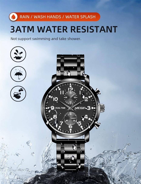 multi-função dial à prova dwaterproof água cronógrafo
