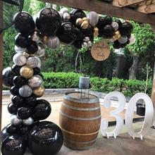 Happy Birthday Decoration Balloons Garland Arch Kit Metallic Gold Silver Balloon Set Baby Shower Weddings Party Decor Supplies