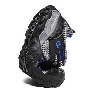 Image 2 - 新ホット販売超軽量カジュアル夏通気性スポーツの靴ジョギングソフト快適なメッシュスニーカー黒靴 47