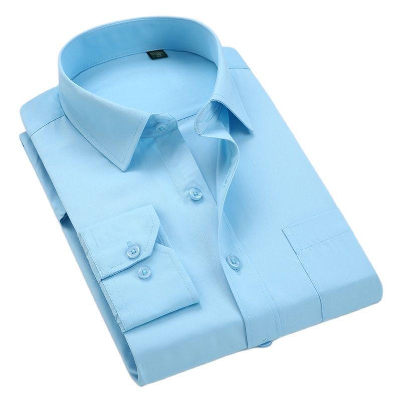 high quality classic twill  men's social shirts long sleeve regular fit  casual plus size 5xl dress shirt
