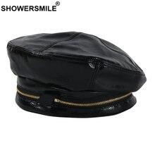 Showersmile/женские шапки с украшением на молнии черная зимняя