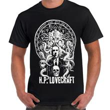 H P Lovecraft Cthulhu Horror Fiction Writer Slim Fit T Shirt