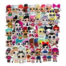 50 piezas LOL pegatinas personalidad lols muñecas pegatinas niños PVC graffiti pegatinas maleta de arranque del coche de guitarra impermeable