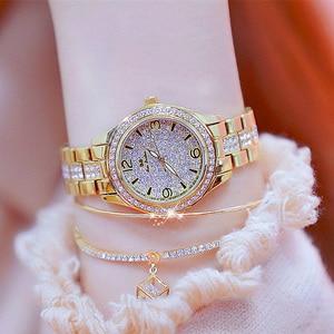 Image 3 - 2020 New Fashion Ladies Wrist Watches Luxury Brand Diamond Women Bracelet Silver Watch Women Dress Quartz Clock Relogio Feminino