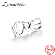 2019Top Quality 925 Sterling Silver Beach Style alphabet LOVE Charm Bracelet buckle link DIY Handmade Silver 925 Jewelry Gifts