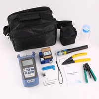 FTTH Fiber Optic Tool Kit Fiber Cleaver FC 6S Optical Power Meter Cable Wire Stripper Visual Fault Locator 5mW