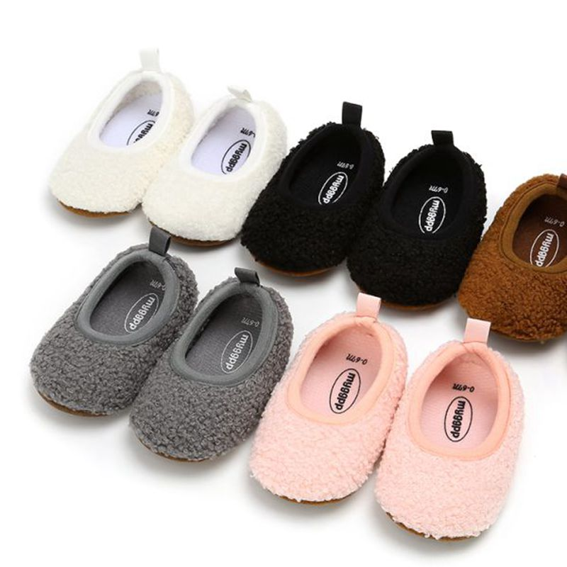 Baby Girls Shoes Newborn  Warm Prewalkers Baby Boots Winter Fur Snow First WalkersSoft Sole No-slip Toddler Shoes