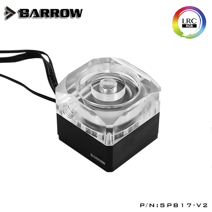 Barrow DDC PWM Pump17w Maximum Flow Lift 5.5meters 960L / H / DDC Combo Pump + Reservoir / Length 195mm 245mm / Coolant Tank RGB