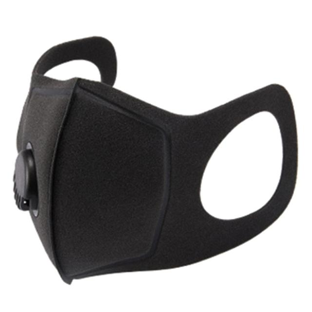 PM 2.5 Dust Mask Double Air Valve Anti Pollution Mask Dust Mask Anti-fog Activated Carbon Filter Flu-proof Mouth Mask Outdoor 1