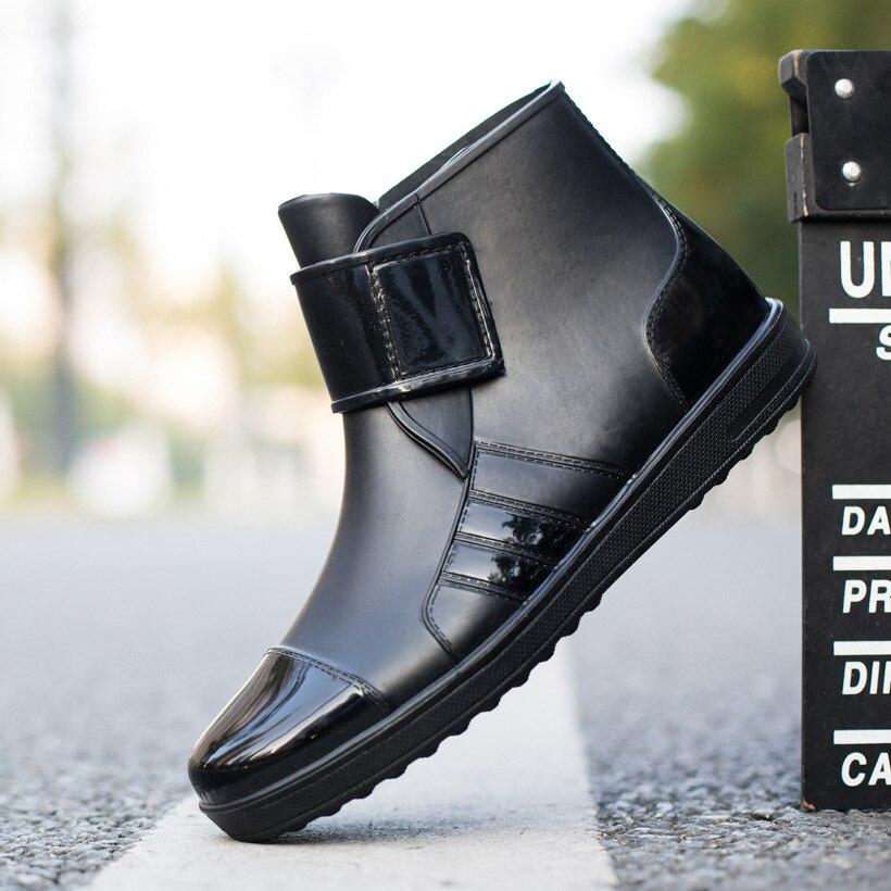 Short Rain Boots Men's Non-slip Waterproof Shoes Rubber Shoes Fashion Zapatos De Hombre Men Boots Rtg67