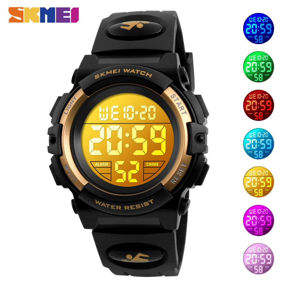 SKMEI Kids Digital Watch LED Electronic Boys Girls Sport Watches Alarm Chronograph 50M Waterproof Children Wristwatches Clock