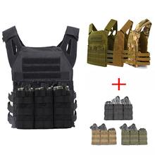JPC Vest Tactical Equipment Plate Carrier Molle Vest With Triple Magazine Pouch Accessories Bag Hunting Airsoft Vest emerson tactical pouch zip on panel plate carrier pouch backpack bag avs jpc 2 0 cpc tactical vest backpack bag pouch