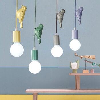 Φωτιστικά Βirds οn the light πολύχρωμα φωτιστικά με διακοσμητικά πουλιά