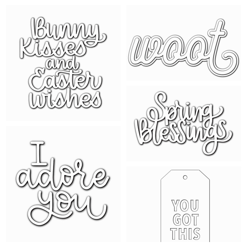 Easter Words Bunny Woot Metal Cutting Dies Stencils For DIY Scrapbooking Photo Album Decorative Embossing Card Crafts Die Cut