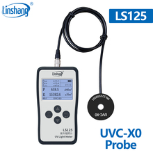 Linshang UVC X0 probe for LS125 ultraviolet light meter test 254nm UV germicidal sterilization disinfection lamp power inensity