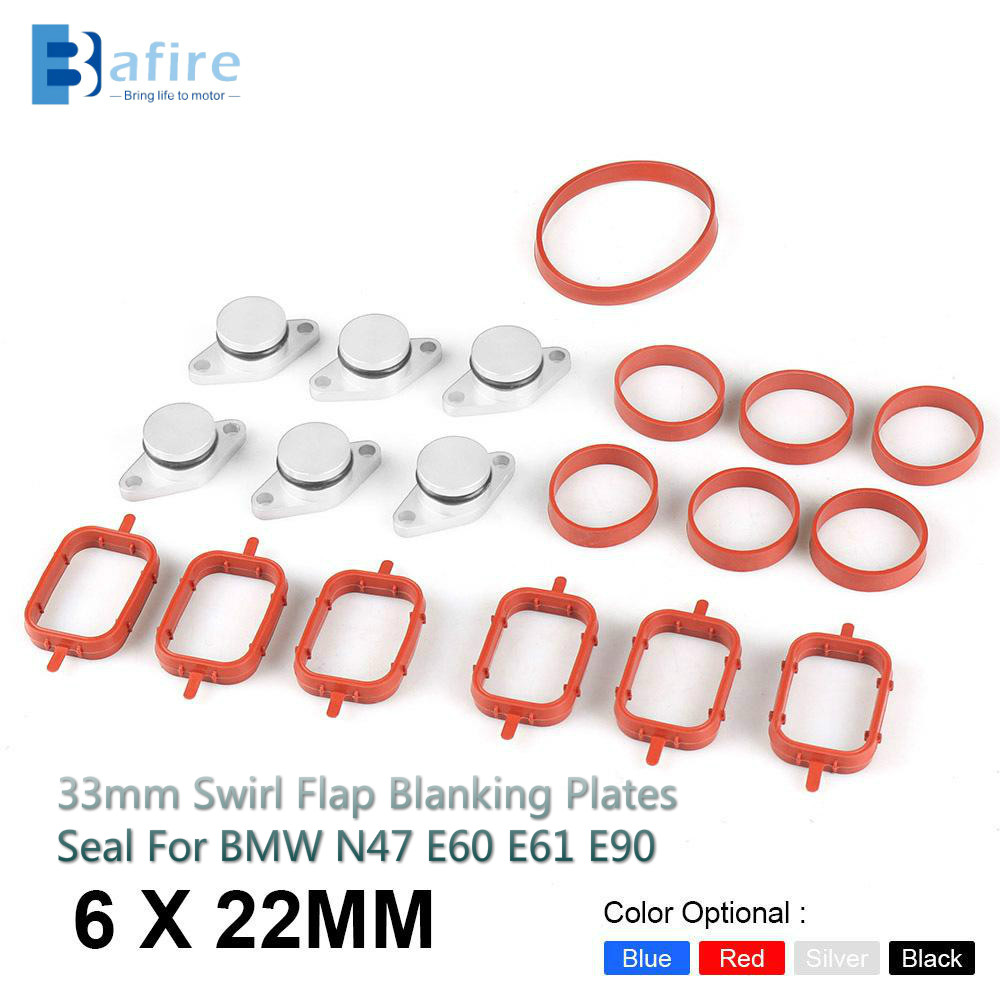 4x Red 22mm Diesel Swirl Flap Removal Blanks BMW 320d 330d 520d 530d 730d