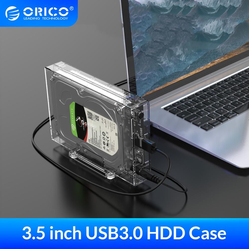 ORICO 3 5 inch SATA to USB 3 0 HDD Case with Holder Support 12TB Max Transparent Hard Drive Enclosure