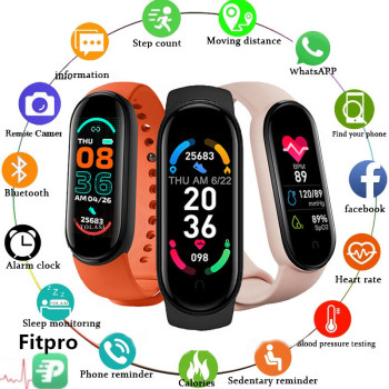 2021 New M6 Smart Watch Men Women Fitness Sports Smart Band Fitpro Version Bluetooth Music Heart Rate Take Pictures Smartwatch 1