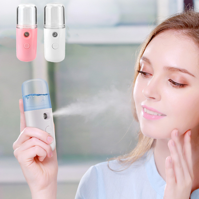 Face Sprayer Cool Mist Facial Steamer Deep Hydrating Home Travel Portable Face Steaming Device Humidification Atomization