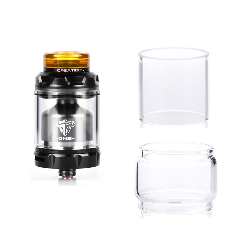 Original Vapesoon Replacement Pyrex Glass Tube For ThunderHead Creations Tauren One RTA 24MM 2ml/4.5ml Capacity