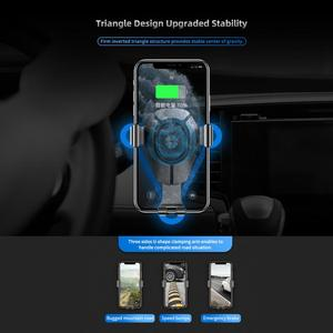 Image 4 - ROCK 15W Fast Wireless Charging Gravity Car Mount for iPhone 8 Plus X Xr Xs Max 11 Pro Max Car Holder for Huawei P30 Mate30 Pro