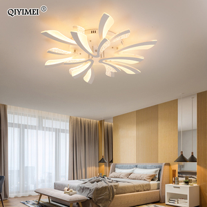Image 4 - Modern LED ceiling chandelier lights for living room bedroom Dining Study Room White Black Body AC90 260V Chandeliers Fixtures