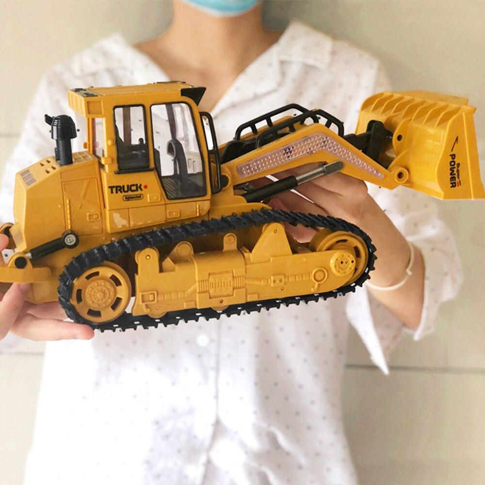 1:16 RC camion Bulldozer Dumper Caterpillar tracteur modèle ingénierie voiture pelle pousser sol musique effets d'éclairage enfants jouets - 6