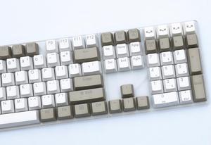 Image 5 - Grigio bianco 87/104 tasti keycap PBT retroilluminato a doppio scatto profilo OEM interruttore MX per cherry/NOPPOO/Flick/Ikbc vendi solo portachiavi