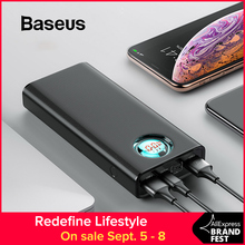 Baseus 20000mAh Power Bank For iPhone Samsung Huawei Type C PD Fast Charging + Quick Charge 3.0 USB Powerbank External Battery full mirror portable charger iphone quick charge power bank 20000mah powerbank for samsung huaweidaul usb type c technology
