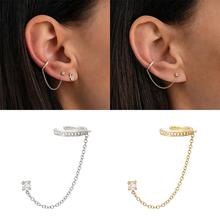 Bokoa 2020 Luxury Elegant 925 Sterling Silver Smooth Tassel Thread Terms Without Holes Ear Clip For Lady Party Zircon Earrings cheap BOAKO CN(Origin) 925 Sterling Fine bo-60205620068 60205635800C A Women Stud Earrings Trendy Geometric GDTC Crystal Earrings