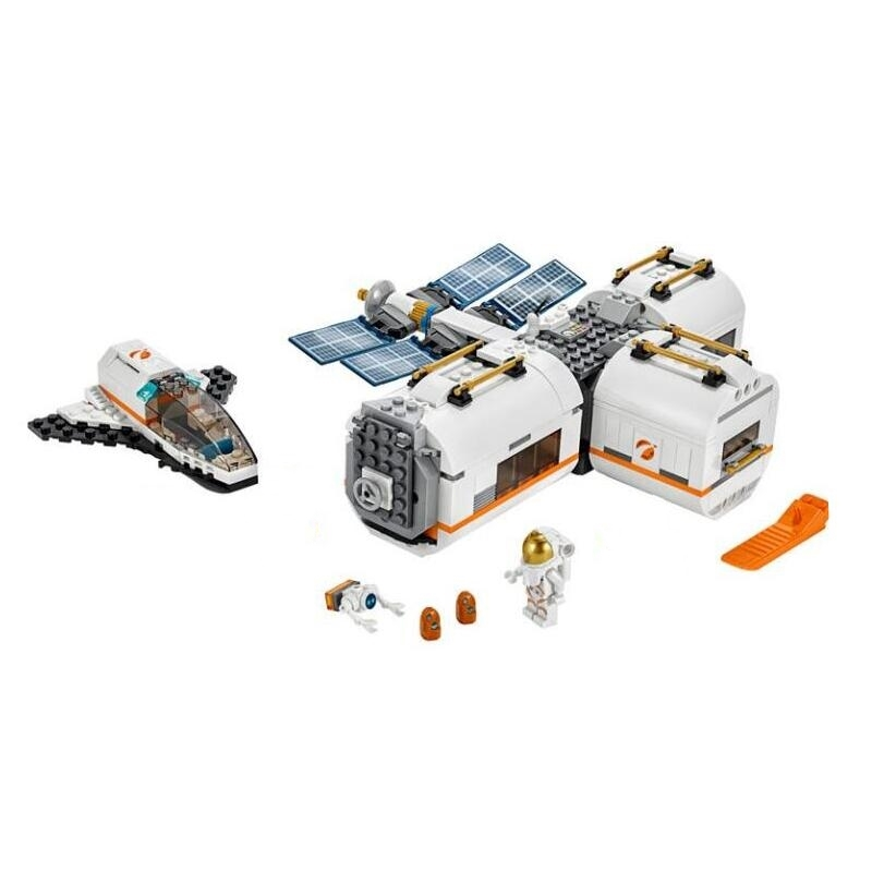 2020 New Lepining Moon Space 50 Anniversary 60227 Moon Space Station Boy Building Toy Gift