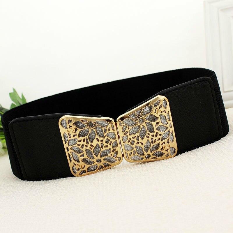 2020 New Fashion Korean Style Buckle Elastic Wide Belt Wide Cummerbund Strap Belt Waist Female Women Accessories 2