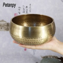 Tibetan handmade Bowl Nepal Singing Ritual Music Therapy Home Decoration Religious Supplies