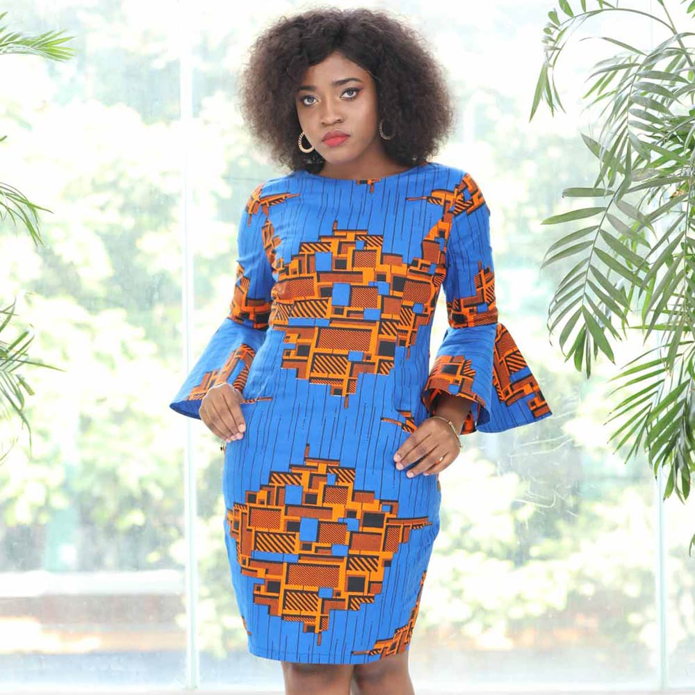 African Dresses For Women Sexy Slim Dress Ankara Dresses Cotton Wax Print Women African Traditional Clothes