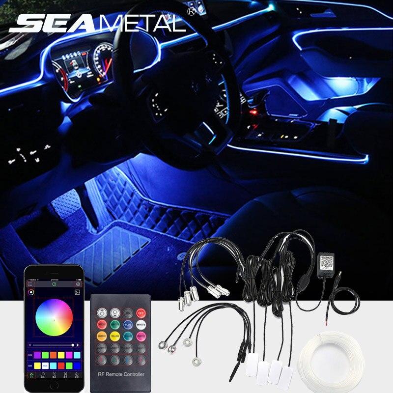 Bande LED pour voiture lumières intérieur lumière ambiante décoration de voiture néon 12V étanche Auto RGB LED bande accessoire de style de voiture