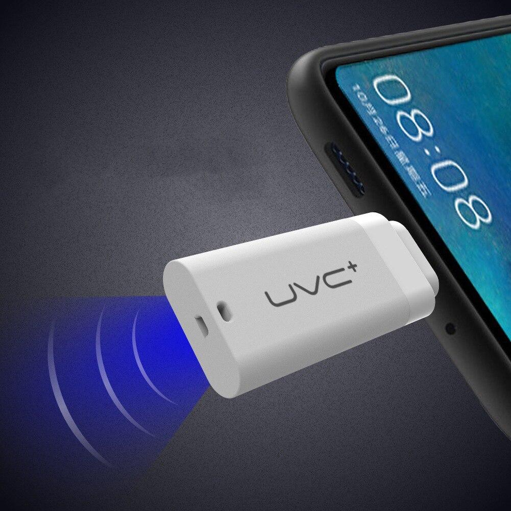 Mini UVC Disinfection Ultraviolet Sterilization LED Light Mobile Phone USB Plug Power Supply Sterilization For Type-C For IPhone
