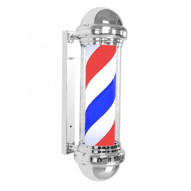 72cm LED Barber Sign Rotating Illuminating Pole Bright Light for Hair Salon Barbershop Supplies