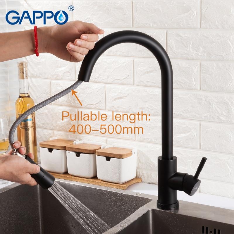 GAPPO сенсор Кухонные смесители Smart Touch Индуктивные чувствительные смесители Смеситель для воды кран с одной ручкой выдвижной Кухонные смесит... - 6