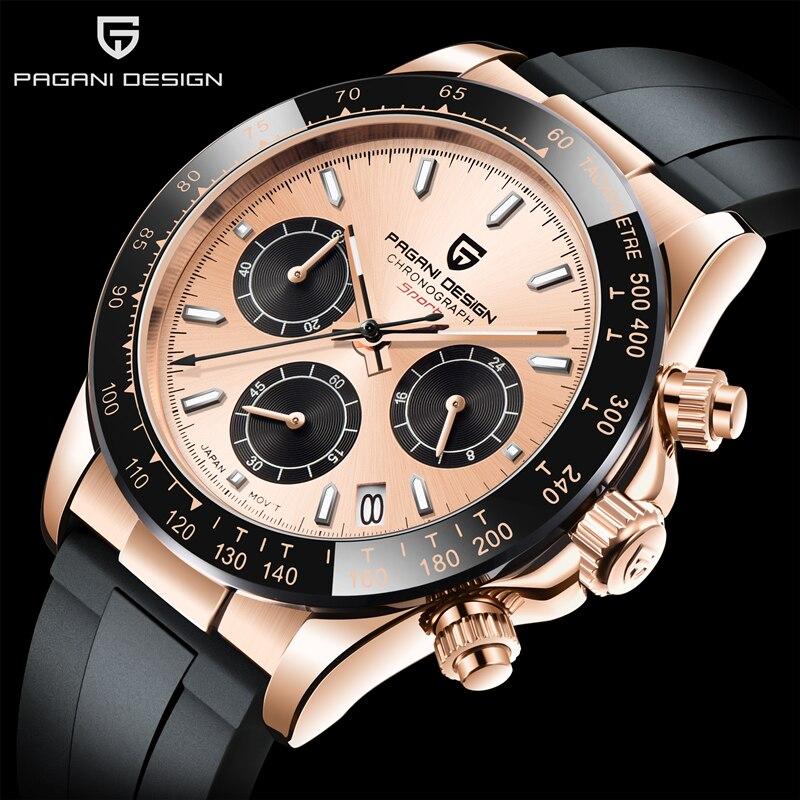2021 Новый PAGANI Дизайн Кварцевые часы Для мужчин лучший бренд Автоматическая Дата наручные часы Силикагель Водонепроницаемый Daytona хронограф ч...
