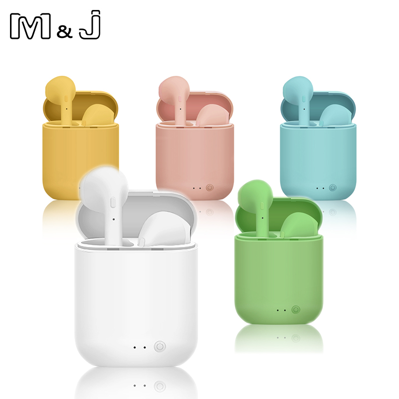 M&J TWS Mini 2 Wireless Headphones Bluetooth 5.0 Earphone Matte Macaron Earbuds Handsfree With Mic Charging Box Headset PK I9S 1
