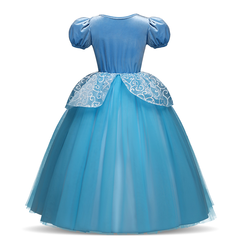 Girls Princess Dress for Kids Cosplay Costume Halloween Party Dresses Role-play Clothes Girls Vestidos Clothing 4
